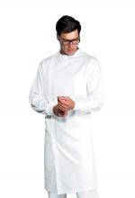 Camice Dentista polsi in maglia colore BIANCO - medicale - ISACCO