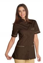 Casacca Panarea colore CACO con inserti BISCOTTO – sanitario – medicale – estetico – alimentare – servizi – ISACCO