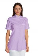 Casacca Panarea colore LILLA con inserti BIANCHI – sanitario – medicale – estetico – alimentare – servizi – ISACCO