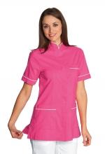 Casacca Panarea colore FUXIA con inserti BIANCHI – sanitario – medicale – estetico – alimentare – servizi – ISACCO