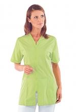 Casacca Victoria – colore MELA – con Cerniera ZIP e Manica Corta – estetica – sanitaria – medicale – servizi – ISACCO