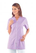 Casacca Victoria – colore LILLA – con Cerniera ZIP e Manica Corta – estetica – sanitaria – medicale – servizi – ISACCO