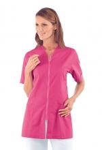 Casacca Victoria – colore FUXIA – con Cerniera ZIP e Manica Corta – estetica – sanitaria – medicale – servizi – ISACCO