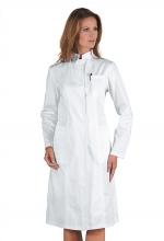 Camice Ponza – colore BIANCO – 100 % cotone – colletto alto – medicale - sanitario – estetico – ISACCO