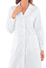 Camice Donna Bottoni a Pressione BIANCO – Cotone e Poliestere - medicale – sanitario – estetico – ISACCO