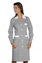 Camice Positano – colore GRIGIO con inserti BIANCHI – sanitario – alberghiero – estetico – pulizie – ISACCO