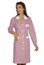 Camice Positano – colore RIGHE ROSA e BIANCHE con inserti ROSA – sanitario – alberghiero – estetico – pulizie – ISACCO
