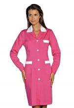 Camice Positano – colore FUXIA con inserti Bianchi – 100% Cotone – sanitario – alberghiero – estetico – pulizie – ISACCO