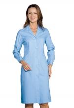 Camice Donna - colore AZZURRO  – sanitario – estetico – alimentare- ISACCO