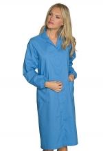 Camice Donna Antinfortunistico da lavoro – colore AZZURRO – cotone e poliestere – ISACCO