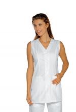 Casacca Tropea – colore BIANCO – Cotone e Poliestere – Manica a giro – estetico – infanzia – servizi – ISACCO