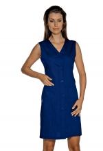 Camice Smanicato Taormina – colore BLU – Cotone e Poliestere – sanitario – estetico – alberghiero – pulizie - ISACCO