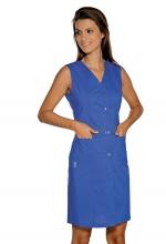 Camice Smanicato Taormina – colore BLU CINA – Cotone e Poliestere – sanitario – estetico – alberghiero – pulizie - ISACCO