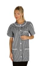 Casacca DONNA Alberville mezza Manica – colore PIED DE POULE – 100% Cotone – sanitario – medicale – estetico – servizi – alimentare – ISACCO