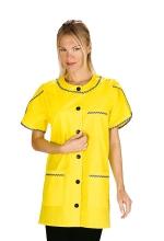 Casacca DONNA Alberville mezza Manica – colore GIALLO – Cotone e Poliestere – sanitario – medicale – estetico – servizi – alimentare – ISACCO