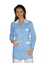 Casacca DONNA Marbella – colore AZZURRO e BIANCO – sanitario – medicale – infermieristico – estetico – alimentare – ISACCO