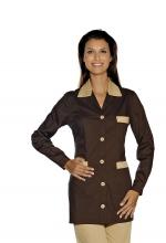 Casacca DONNA Marbella – colore CACAO e BISCOTTO – sanitario – medicale – infermieristico – estetico – alimentare – ISACCO
