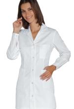 Casacca DONNA Marbella – colore BIANCO con Bottoni a PRESSIONE – Cotone e Poliestere – sanitario – medicale – infermieristico – estetico – alimentare – ISACCO