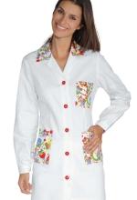 Casacca DONNA Marbella – colore BISCOTTO e inserti SMILE – sanitario – medicale – infermieristico – estetico – alimentare – ISACCO