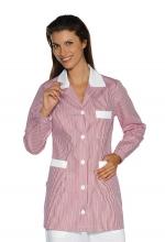 Casacca DONNA Marbella – colore a RIGHE ROSA e inserti in BIANCO – sanitario – medicale – infermieristico – estetico – alimentare – ISACCO