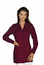Casacca DONNA Marbella – colore BORDEAUX – sanitario – medicale – infermieristico – estetico – alimentare – ISACCO