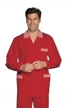 Casacca Peter – colore BORDEAUX con inserti a RIGHE BIANCHE – Cotone e Poliestere – medicale – estetico – sanitario – alimentare – ISACCO