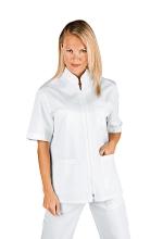 Casacca Donna Samarcanda – colore BIANCO – Mezza Manica - 100% Cotone – sanitario – medicale – ISACCO