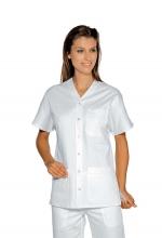 Casacca DONNA Cancun – colore BIANCO – Mezza Manica – chiusura a Bottoni – sanitario – medicale – infermieristico – ISACCO
