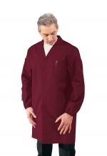 Camice Uomo sanitario - medico – alimentare – pulizie – colore BORDEAUX – ISACCO