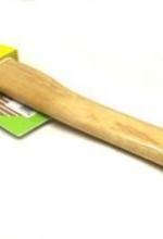 Accetta inox manico legno 124