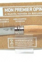 Coltello Opinel rasoio punta tonda manico in faggio