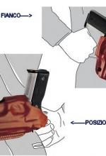 Fondina Vega cuoio biuso N155 Beretta px4 storm serie N1