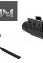 Laser verde per fucile con attacco e cavetto remoto Aim Sports