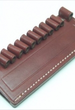 Porta Colpi cuoio da 12 colpi per cartucce calibro 38-357